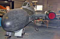 WD646 @ EGMH - Gloster Meteor TT.20 at Manston Museum