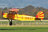 G-BWEF @ EGKH - 1946 Stampe-Vertongen SV-4C, c/n: 208 arriving at Headcorn