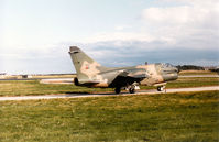 5503 @ EGQS - Portuguese Air Force A-7P Corsair II of 304 Esquadron taxying to Runway 05 at RAF Lossiemouth in September 1993. - by Peter Nicholson