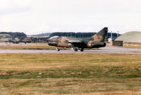 5507 @ EGQS - Portuguese Air Force A-7P Corsair II of 304 Esquadron lined up on Runway 05 at RAF Lossiemouth in September 1993. - by Peter Nicholson