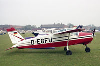 D-EGFU @ EGTC - Bolkow BO-208C Junior at the PFA Rally, Cranfield in July 1994. - by Malcolm Clarke