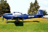 OO-FDF @ EBZW - Piaggio FWP-149D [087] Genk-Zwartberg~OO 14/09/1985