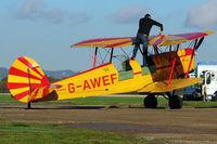 G-AWEF @ EGKH - 1947 Stampe-Vertongen SV-4C(G), c/n: 549 at Headcorn