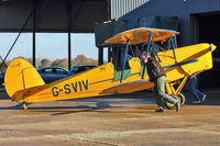 G-SVIV @ EGKH - 1948 Sn De Constructions Aeronautiques Du Nord STAMPE SV4C(G), c/n: 475 at Headcorn