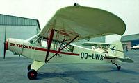 OO-LWA @ EBAW - Piper PA-18-135 Super Cub [18-4017] Antwerp~OO 14/08/1977. Image taken from a slide.