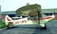 OO-LWE @ EBAW - Piper PA-18-135 Super Cub [18-3915] Antwerp~OO 14/08/1977. Image taken from a slide.