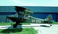 OY-EFA @ EKEB - Piper PA-18-95 [18-1477] Esbjerg~OY 04/06/1982. Image taken from a slide.