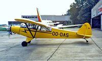 OO-DAS @ EBAW - Piper PA-18-95 Super Cub [18-1558] Antwerp~OO 14/09/1985. Image taken from a slide.