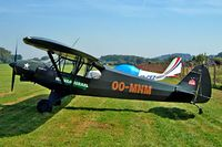 OO-MNM @ EBGG - Piper PA-18-150 Super Cub [18-8009035] Geraardsbergen-Overboelare~OO 18/08/2002