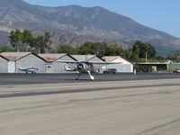 N273MD @ SZP - 2008 DICKENSON HOWARD DGA-21 'Mr. DICKENSON', P&W R-1340-57 Wasp 600 Hp radial, landing roll Rwy 22 - by Doug Robertson