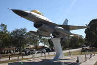 80-0528 - An F-16 Fighting Falcon (80-0528) of the 56th Tactical Fighter Wing from MacDill Air Force Base sits on display at Freedom Lake Park - by Jim Donten