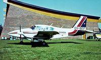 OY-BEF @ EBKI - Piper PA-23-250 Aztec F [27-7654185] Billund~OY 04/06/1982. Image taken from a slide.