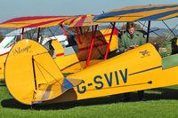 G-SVIV @ EGKH - Planning the route for 1948 Stampe-Vertongen SV-4C, c/n: 475
