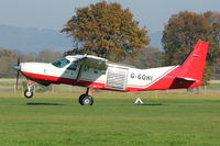 G-GOHI @ EGKH - 1985 Cessna 208, c/n: 20800040 lifts off from Headcorn with a group of skydivers on board