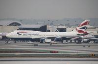 G-BYGF @ KLAX - Boeing 747-400 - by Mark Pasqualino