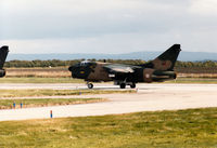 5503 @ EGQS - Portuguese Air Force A-7P Corsair II of 304 Esquadron preparing for take-off on Runway 05 at RAF Lossiemouth in the Summer of 1993. - by Peter Nicholson