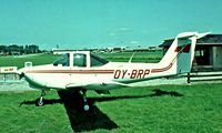 OY-BRP @ EKRS - Piper PA-38-112 Tomahawk [38-78A0748] Ringsted~OY 07/06/1982. Image taken from a slide. became SE-KDL and then reverted back to OY-BRP.