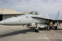 165228 @ KMCF - F-18 Hornet (164218) on display at MacDill AirFest - by Jim Donten