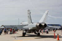 165228 @ KMCF - F-18 Hornet on display at MacDill Air Fest - by Jim Donten