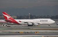 VH-OJS @ KLAX - Boeing 747-400 - by Mark Pasqualino