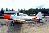 OY-ATF @ EKBI - DHC-1 Chipmunk T.20 [C1/0787] Billund~OY 14/06/1985. Written off near Store Lyngby~OY. This was later rebuilt using fuselage of C1/0256 and took on its identity.