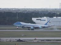 92-9000 @ MCO - Air Force One from MCO rooftop