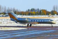 4K-AZ888 @ EGGW - 2006 Gulfstream Aerospace GIV-X (G450), c/n: 4045 at a snowy Luton - by Terry Fletcher