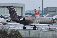 D-AGVS @ EGGW - Gulfstream Aerospace GIV-X (G450), c/n: 4113 at a snowy Luton - by Terry Fletcher