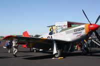 N61429 @ KHST - P-51 Mustang (NX61429) of the Red Tails Squadron on static display at Wings over Homestead - by Jim Donten