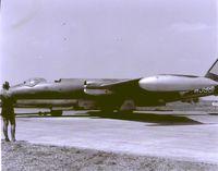 WJ981 @ VTBD - 45 Squadron RAF At Don Muang, Bangkok,Exercise 'Air Progress' Damaged after belly-landing, later flown back to Base. - by John White