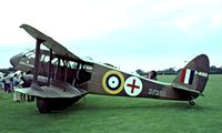 G-AHGD @ EGTH - De Havilland DH.89A Dragon Rapide [6862] Old Warden~G 11/07/1982. Image taken from a slide. - by Ray Barber