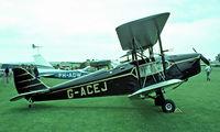 G-ACEJ @ EGTH - De Havilland DH.83 Fox Moth [4069] Old Warden~G 11/07/1982. Image taken from a slide. - by Ray Barber