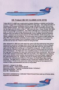 G-AWZI @ EGLF - History of 1971 Hawker Siddeley HS-121 Trident 3B-101, c/n: 2310