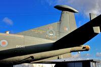 XV249 @ EGWC - Tail colours of Hawker Siddeley Nimrod MR.1, c/n: 8024