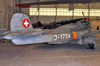 J-1704 @ EGWC - De Havilland (F+W Emmen) DH-112 Venom FB.54, c/n: 874