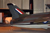 XK724 @ EGWC - Tail of Folland Gnat F.1, c/n: FL2