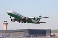 B-16401 @ DFW - EVA Air Cargo departing DFW Airport