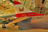 ZG477 @ EGWC - Tail motif on 1990 British Aerospace Harrier GR.9A, c/n: P67