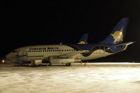 C-GFPW @ CYZF - 5:30am at Yellowknife - by Micha Lueck