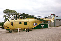 XJ393 - Westland WS.55 HAR.10 Whirlwind [WA.57] Higher Blagdon, Devon~G 13/09/1976. Seen at Torbay Aircraft Museum now disbanded. Image taken from a slide.