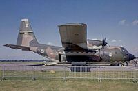 64-0569 @ EGDX - Lockheed C-130E Hercules [4079] RAF St. Athan~G 20/09/1975. Image taken from a slide. - by Ray Barber