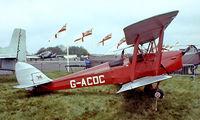 G-ACDC @ EGKB - De Havilland DH.82A Tiger Moth [3177] Biggin Hill~G 21/05/1978. Image taken from a slide. - by Ray Barber