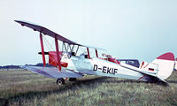 D-EKIF @ EKVJ - De Havilland DH.82A Tiger Moth [83091] Stauning~OY 05/06/1982. Image taken from a slide. - by Ray Barber