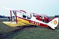 LN-KAY @ EKVJ - De Havilland DH.82A Tiger Moth [84616] Stauning~OY 05/06/1982. Image taken from a slide. - by Ray Barber