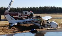 N54500 @ KMBT - Dec. 13, 2012, crashed at KMBT (Murfreesboro Municipal). Pilot suffered lacerations and dislocated hip. - by DN Journal