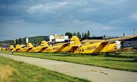 HA-MHW @ LHBS - Antonov An-2R [1G158-60] Buadors~HA 15/06/1996. 21 An-2's where seen her on that day. A number of them are also displayed in this shot.