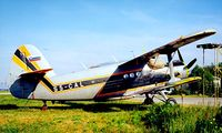 S5-CAL @ LJLJ - Antonov An-2R [1G178-53] (Falcon Air) Ljubljana~S5 19/06/1996. After becoming HA-MKK this was written off when it crashed into a hillside near  Trbovijie Slovenia and was destroyed by fire on 2008-01-11.