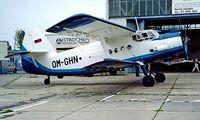 OM-GHN @ LZVB - Antonov An-2T [1G168-02] Vajnory~OM 21/06/1996