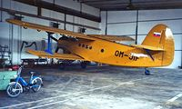 OM-JIF @ LZIB - Antonov An-2T [1G186-20] (Slovair) Bratislava~OM 21/06/1996. This has been registered twice as this and as OK-JIF 3 times going backwards and forwards as these 2 registrations.