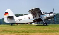 D-FOKK @ EBDT - Antonov An-2T [19547304] Schaffen-Deist~OO 12/08/2000. - by Ray Barber